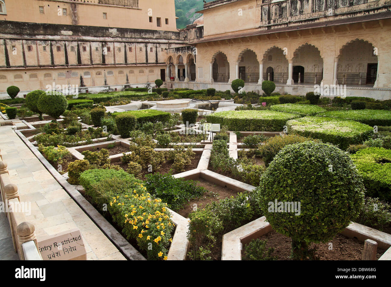 Amer Fort gardens in Jaipur India Stock Photo: 58946064 - Alamy