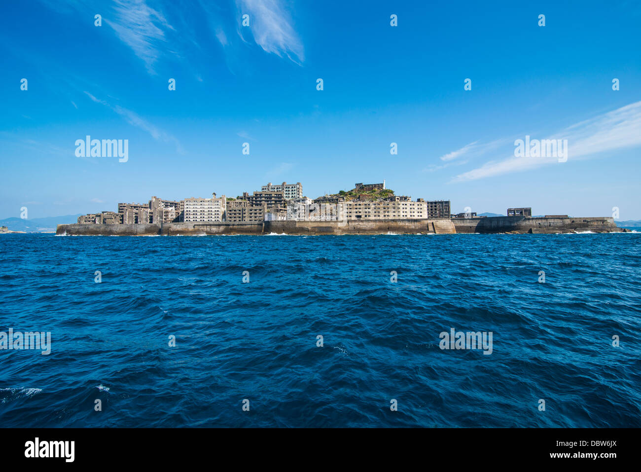 Hashima Island Gunkanjima (Warship Island), Nagasaki, Kyushu, Japan, Asia - Stock Image