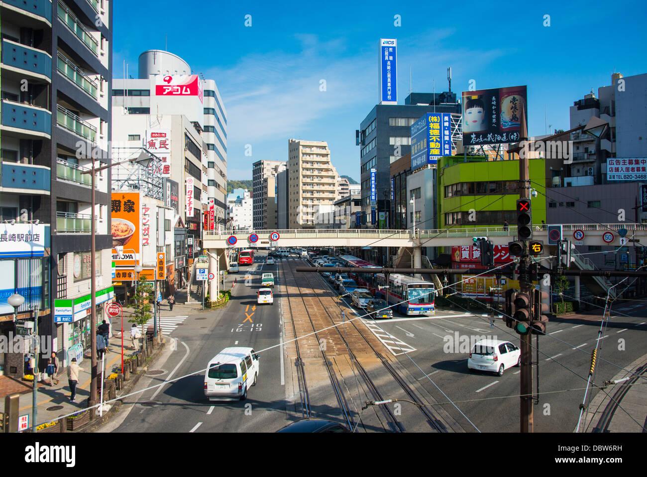 Downtown Nagasaki, Kyushu, Japan, Asia - Stock Image