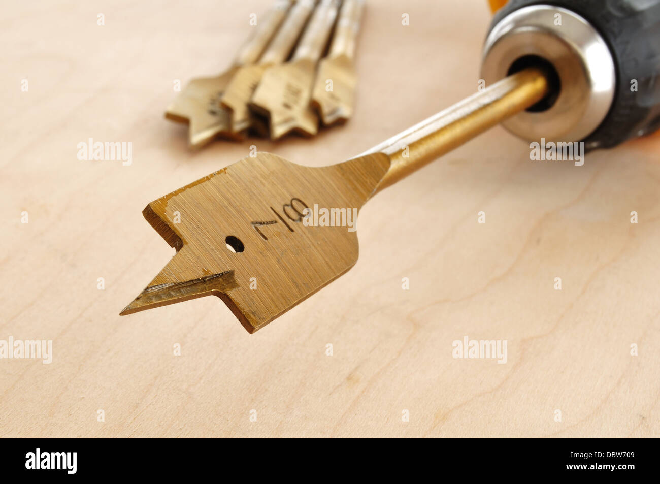 Wood drill bit - Stock Image