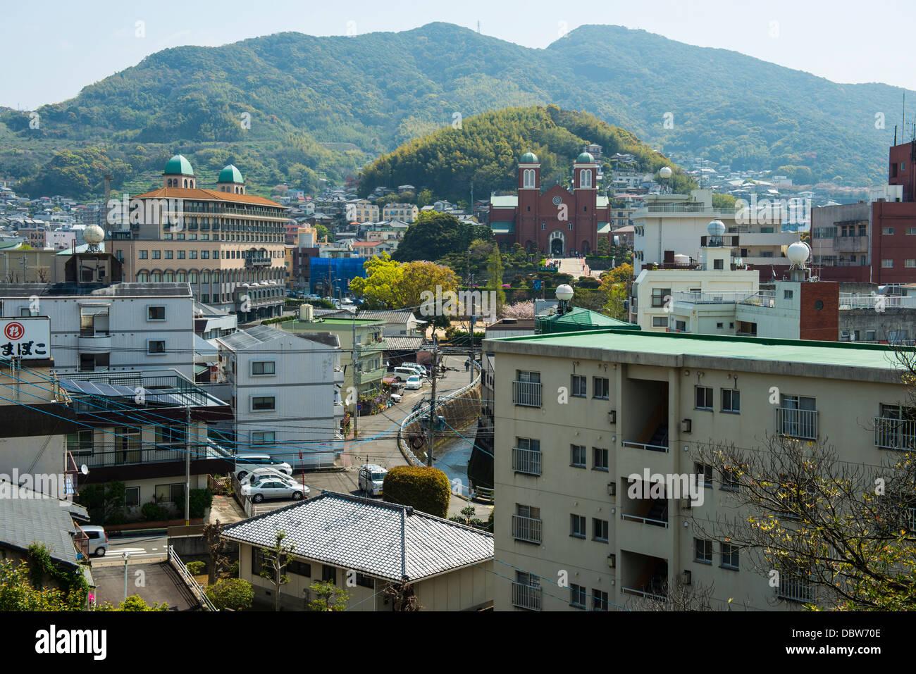 View of Nagasaki, Kyushu, Japan, Asia - Stock Image