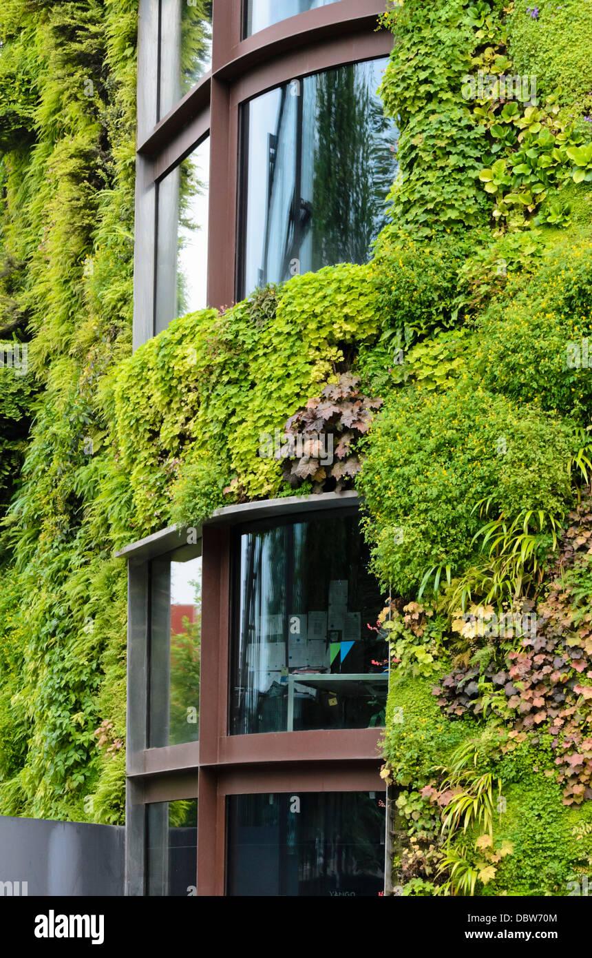 Vertical garden, Musée du quai Branly, Paris, France. Design ...