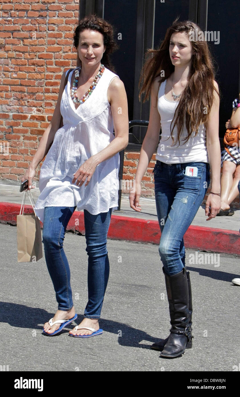 Andie Macdowell And Her Daughter Rainey Qualley Take A