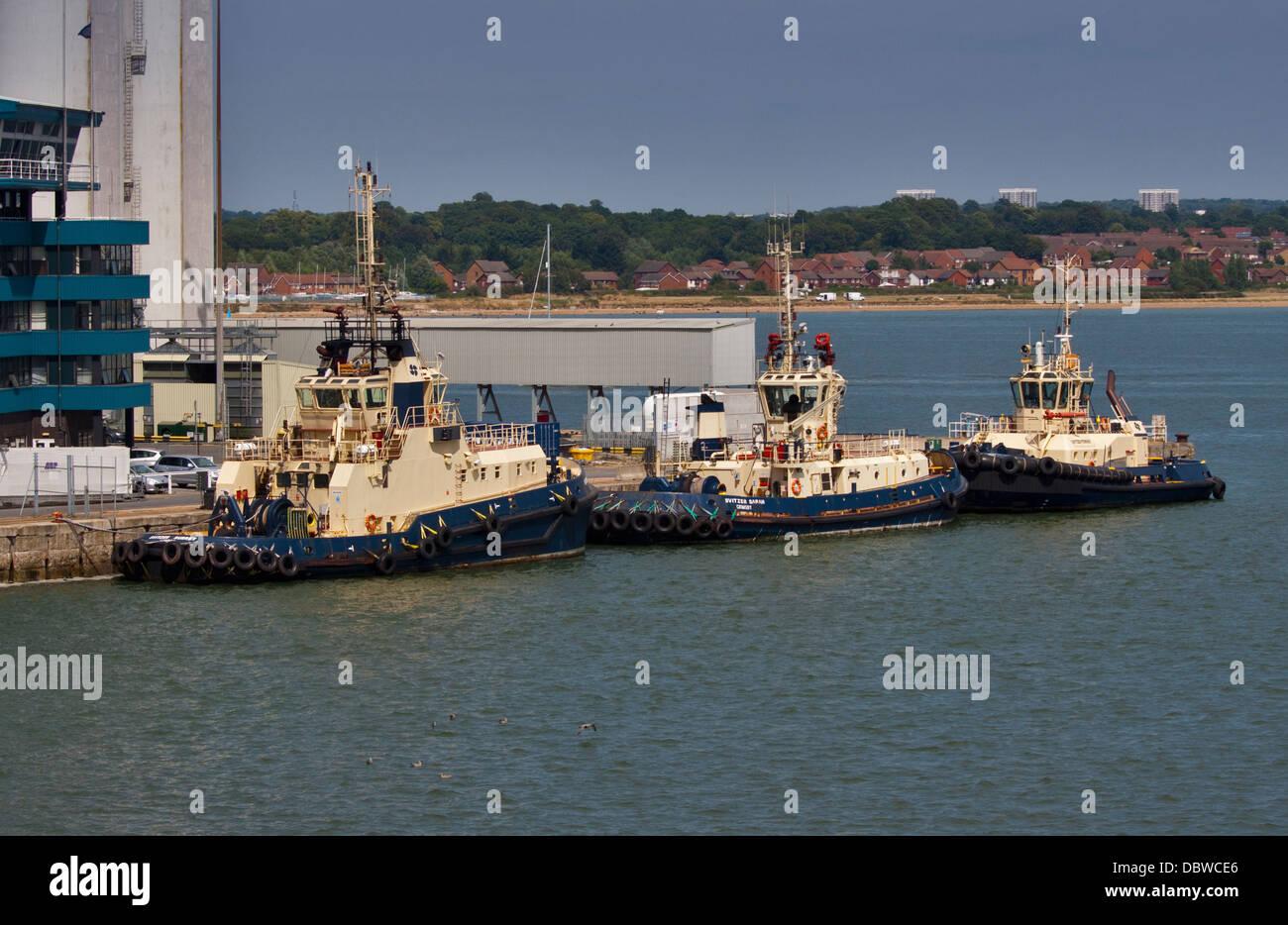 Tug Boats at Southampton Docks, Southampton, Hampshire, England - Stock Image