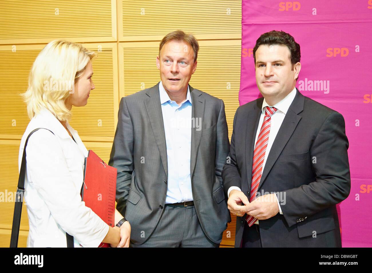 Berlin, German. 5th Aug, 2013. Manuela Schwesig (SPD), Minister of Labour, Equality and Social Welfare in Mecklenburg - Stock Image