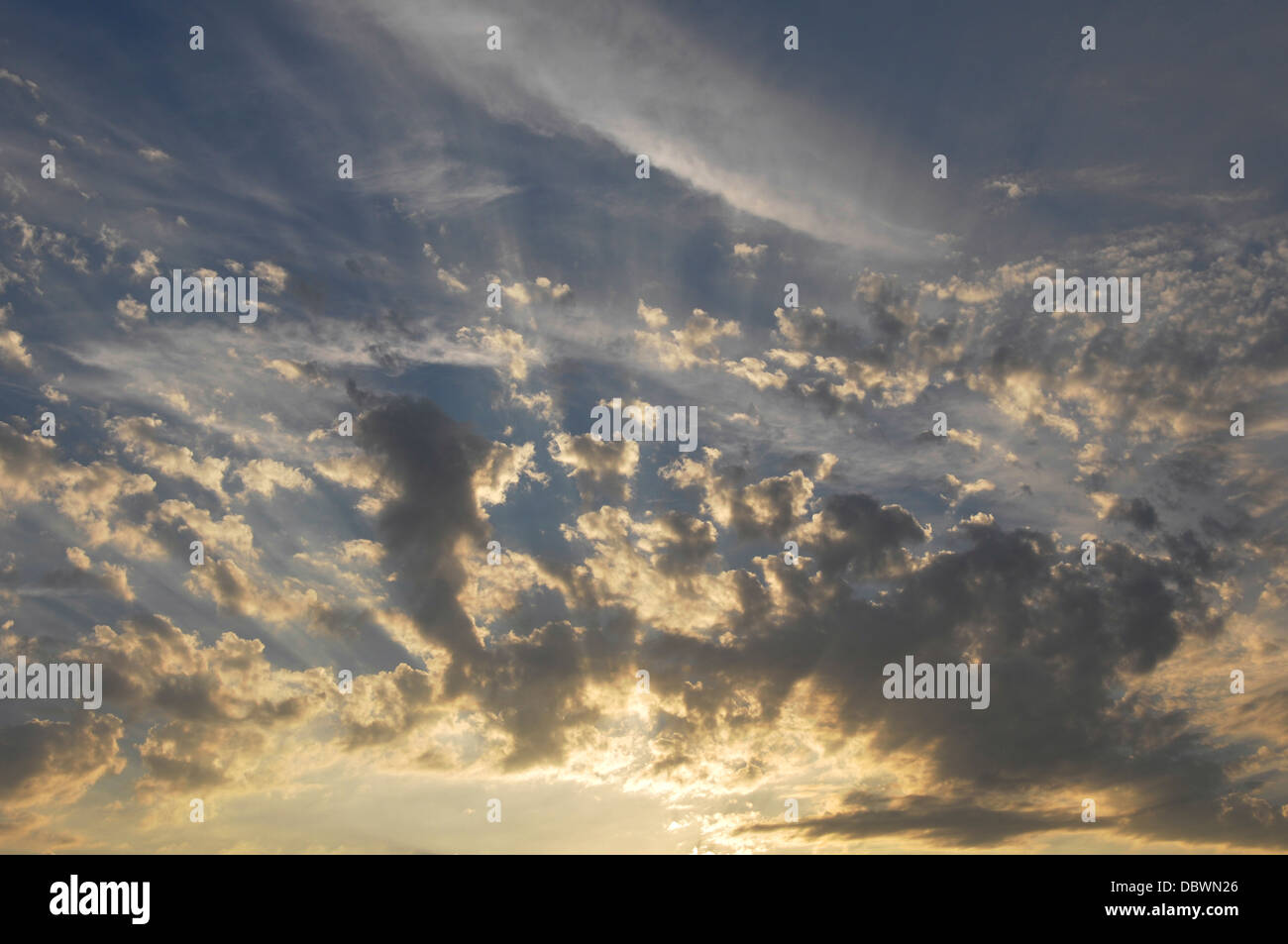 dramatic skyscape - Stock Image