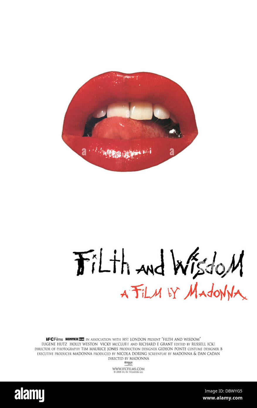 FILTH AND WISDOM (2008) MADONNA (DIR) 004 MOVIESTORE COLLECTION LTD - Stock Image