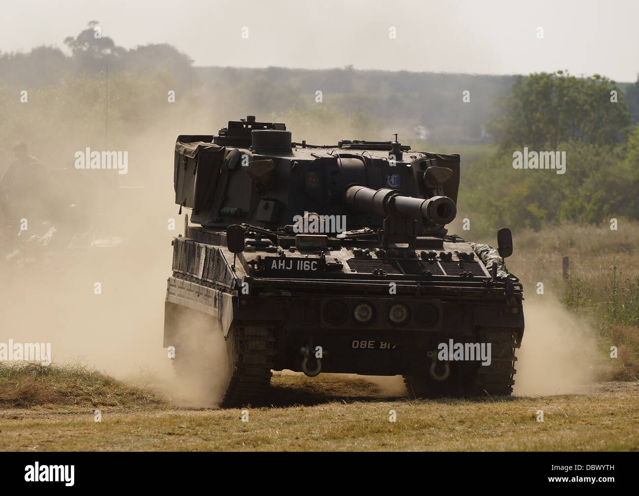 British Army Abbot FV433 Self Propelled Gun on show at the War and Peace Revival Show, Kent, UK - Stock Image
