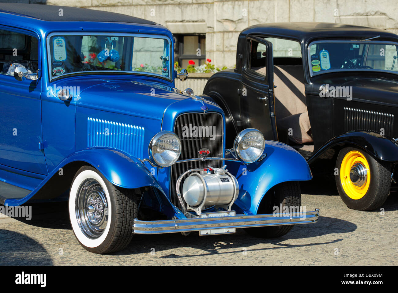 1932 Ford classic automobiles in Northwest Deuce Days car show-Victoria, British Columbia, Canada. - Stock Image