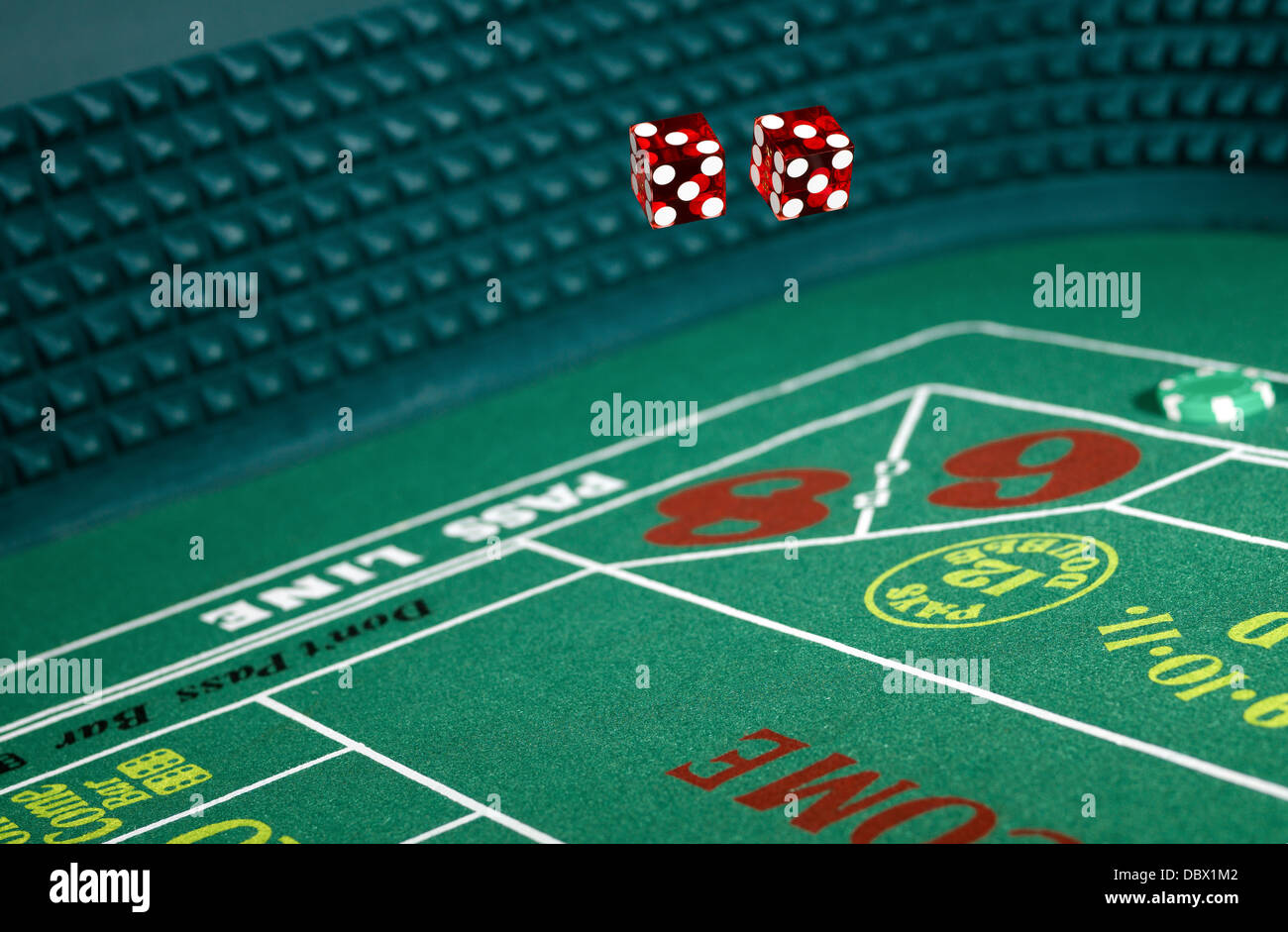 Casino game craps - Stock Image