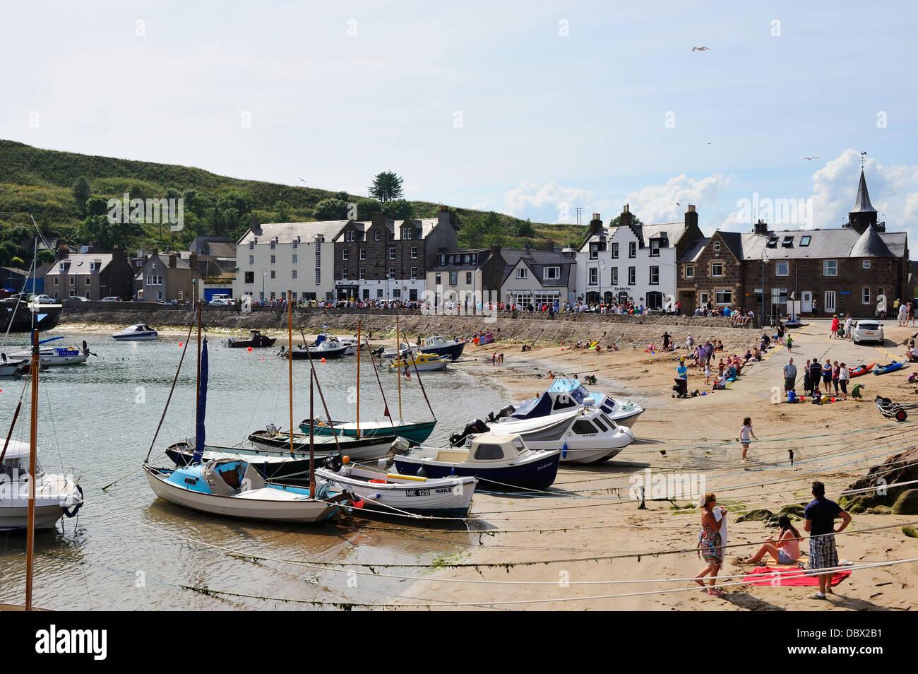 Stonehaven harbour, Aberdeenshire, Scotland - Stock Image