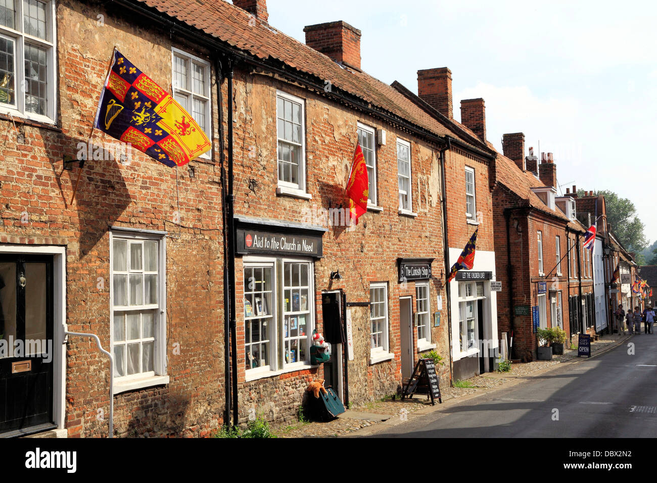 Walsingham, Norfolk, High Street shops, England, UK, English town towns - Stock Image