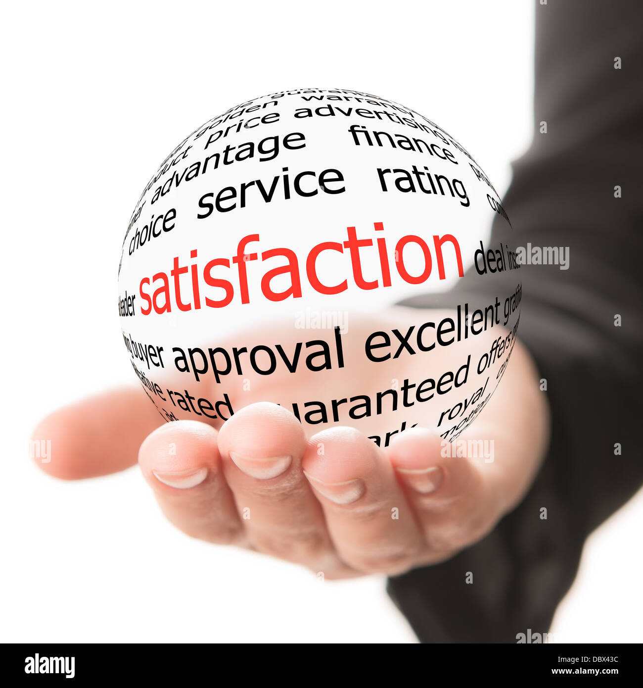 Concept of satisfaction - Stock Image