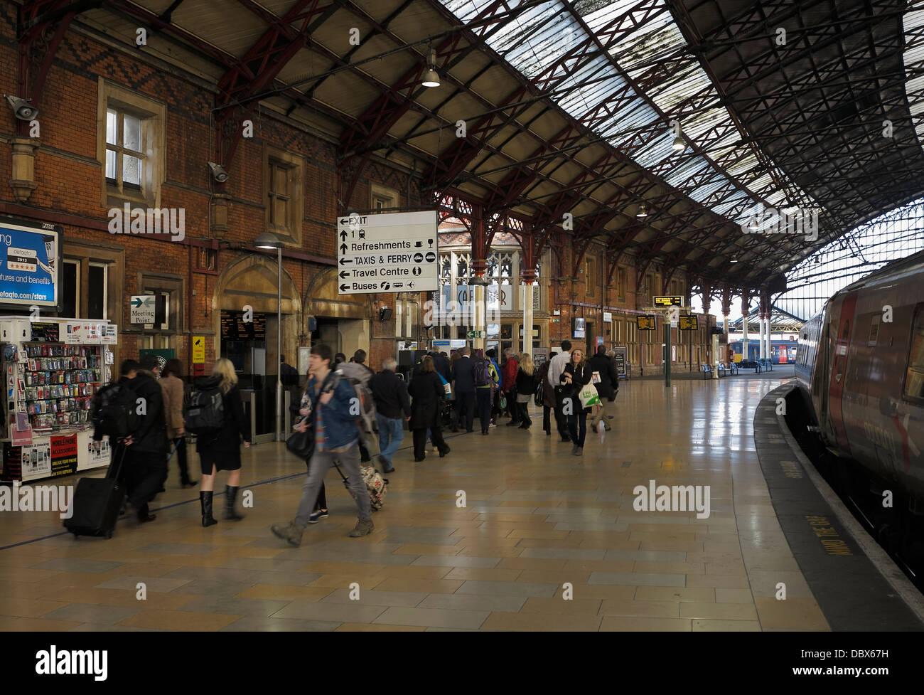 Bristol Temple Meads Railway Station, Bristol, UK Stock Photo