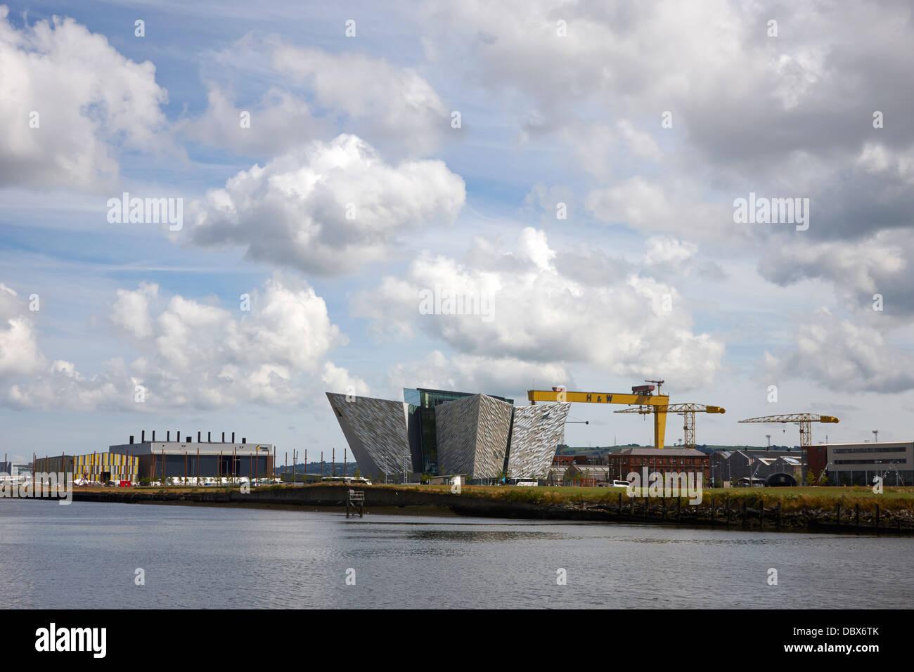 Belfast titanic museum and queens island titanic quarter Northern Ireland UK - Stock Image