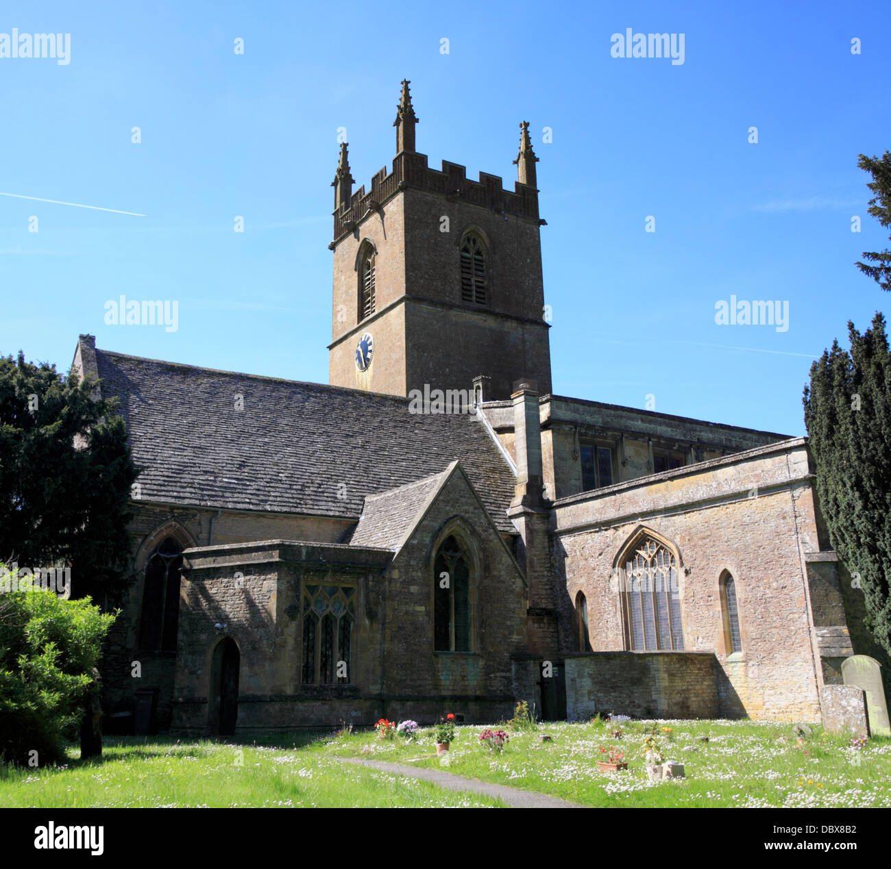 St Edwards Church Stow on the Wold Stock Photo