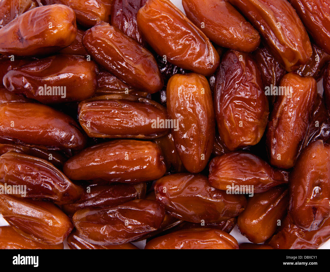 Dried date fruits background - Stock Image