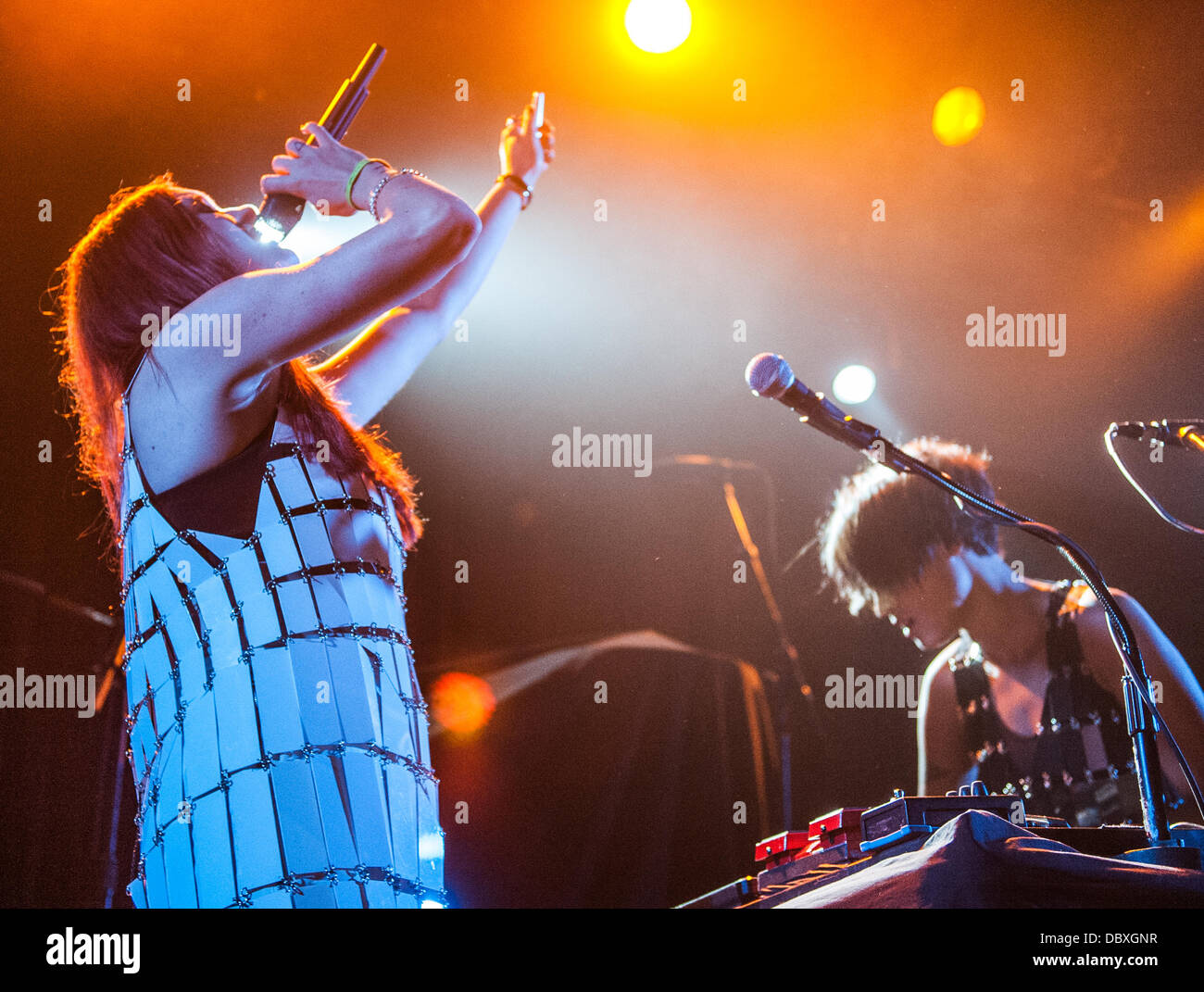 Caroline Hjelt and Aino Jawo of Icona Pop performing live at Metro in Chicago, IL July 31, 2013 - Stock Image