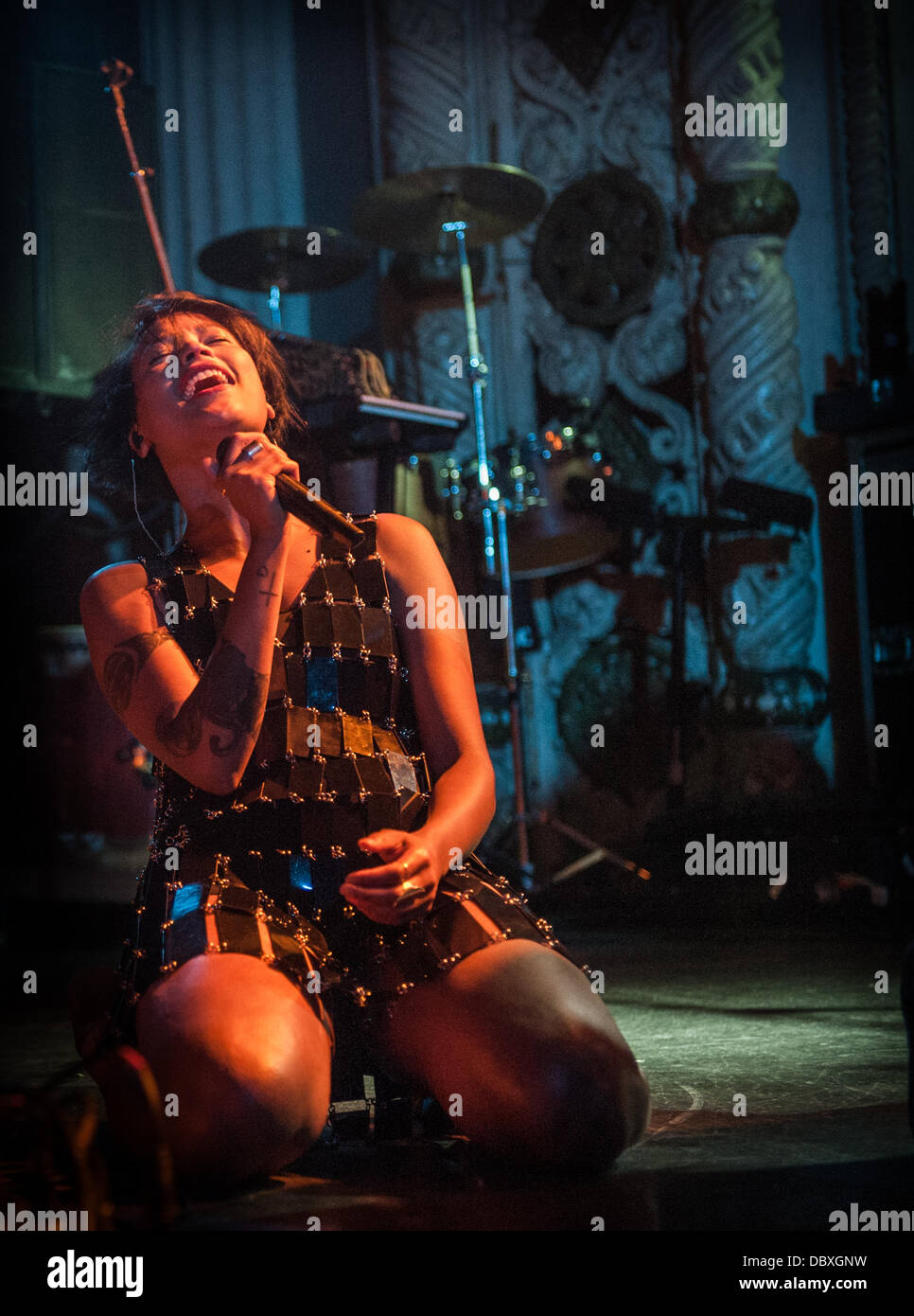 Aino Jawo of Icona Pop performing live at Metro in Chicago, IL July 31, 2013 - Stock Image