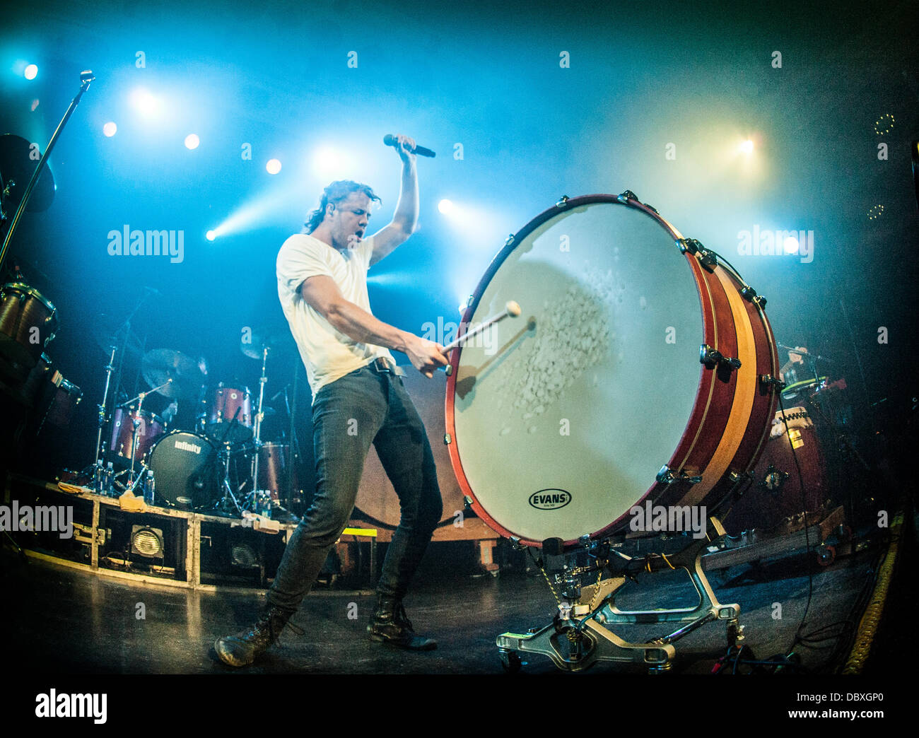 Dan Reynolds of Imagine Dragons performing live at Metro in Chicago, IL July 31, 2013 - Stock Image