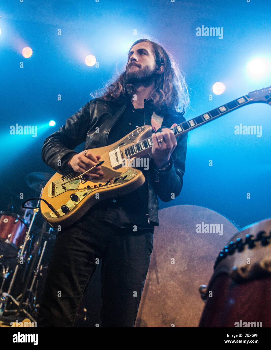 Wayne Sermon of Imagine Dragons performing live at Metro in Chicago, IL July 31, 2013 - Stock Image