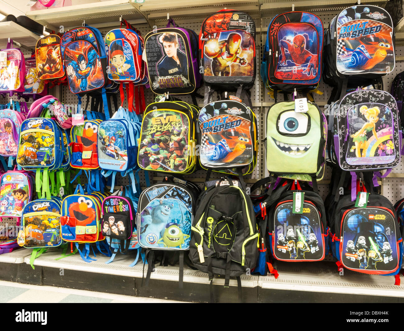Backpack Display in Kmart, NYC Stock Photo  58976531 - Alamy 2ba4e33015