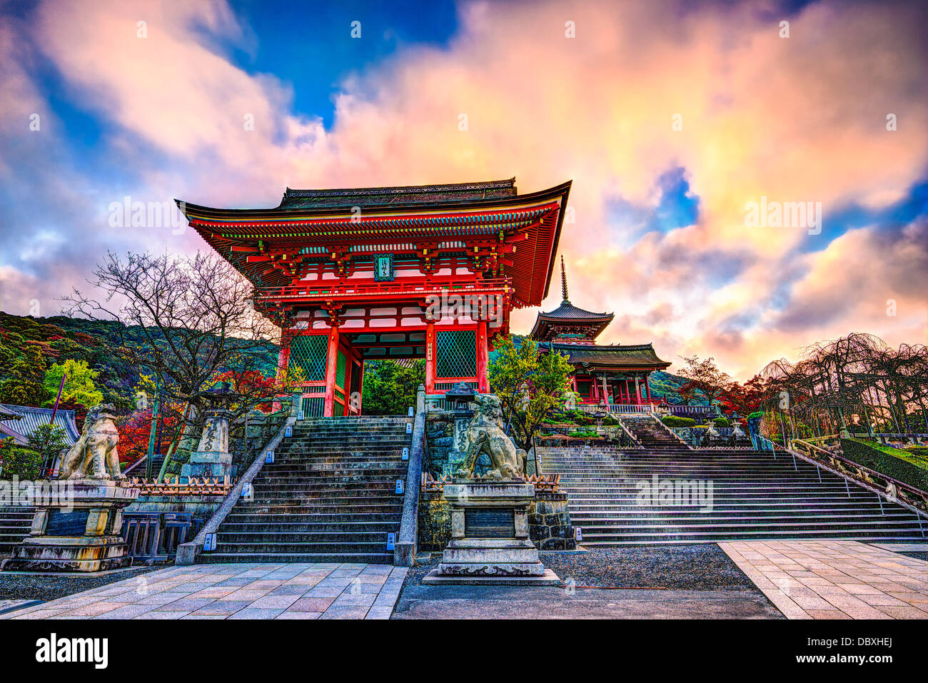 Kiyomizu-dera Temple Gate in Kyoto, Japan in the morning. - Stock Image