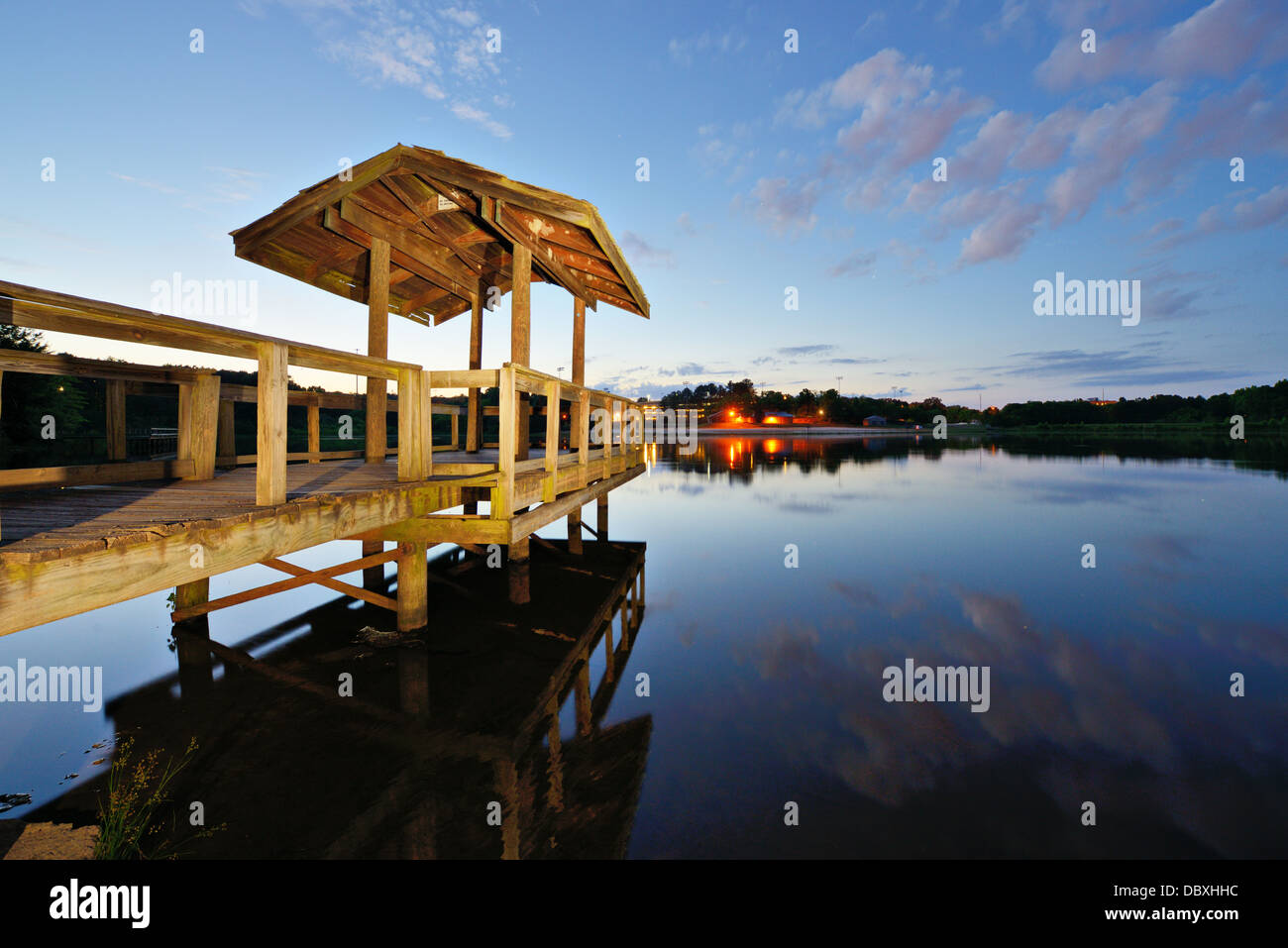 Country lake in north Georgia, USA. - Stock Image