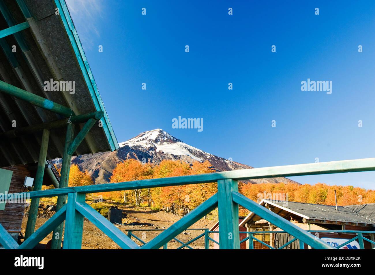 Pucon ski area, Chile - Stock Image
