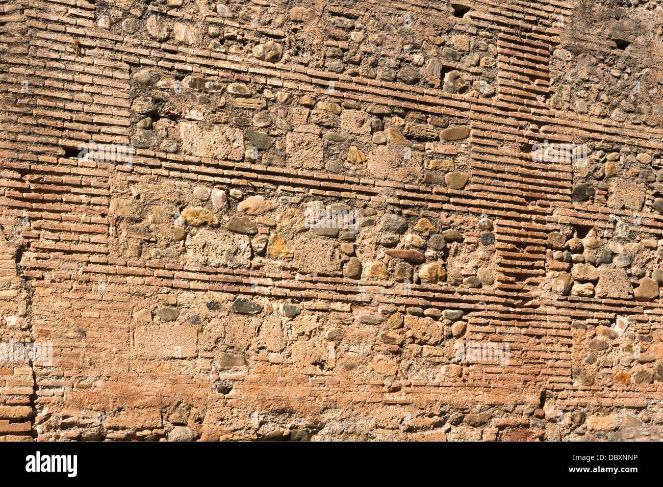 Sample of arab masonry, 13th-century, Alhambra, Granada, Spain. - Stock Image