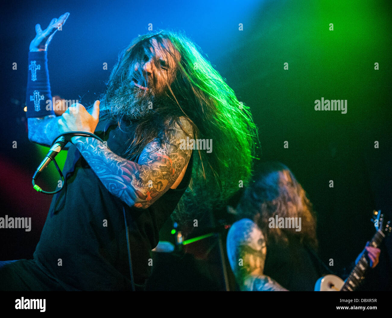 Chicago, IL, USA. 04th Aug, 2013. Ohio thrash metal band Skeletonwitch perform at a Lollapalooza afterparty at the - Stock Image