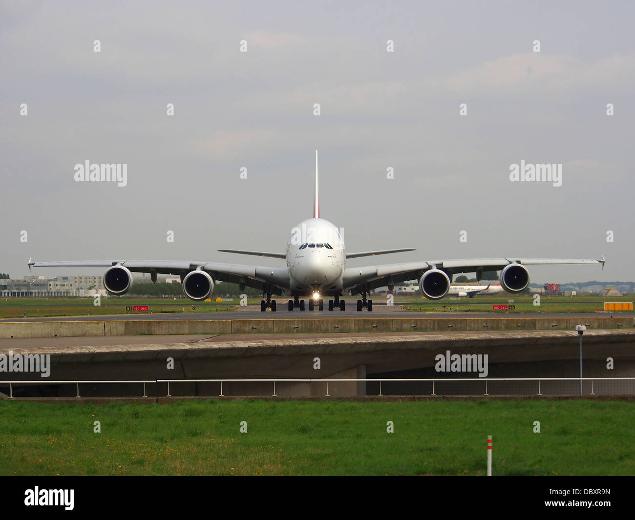 A6-EDW Emirates Airbus A380-861 - cn 103 taxiing 14july2013 -001 - Stock Image