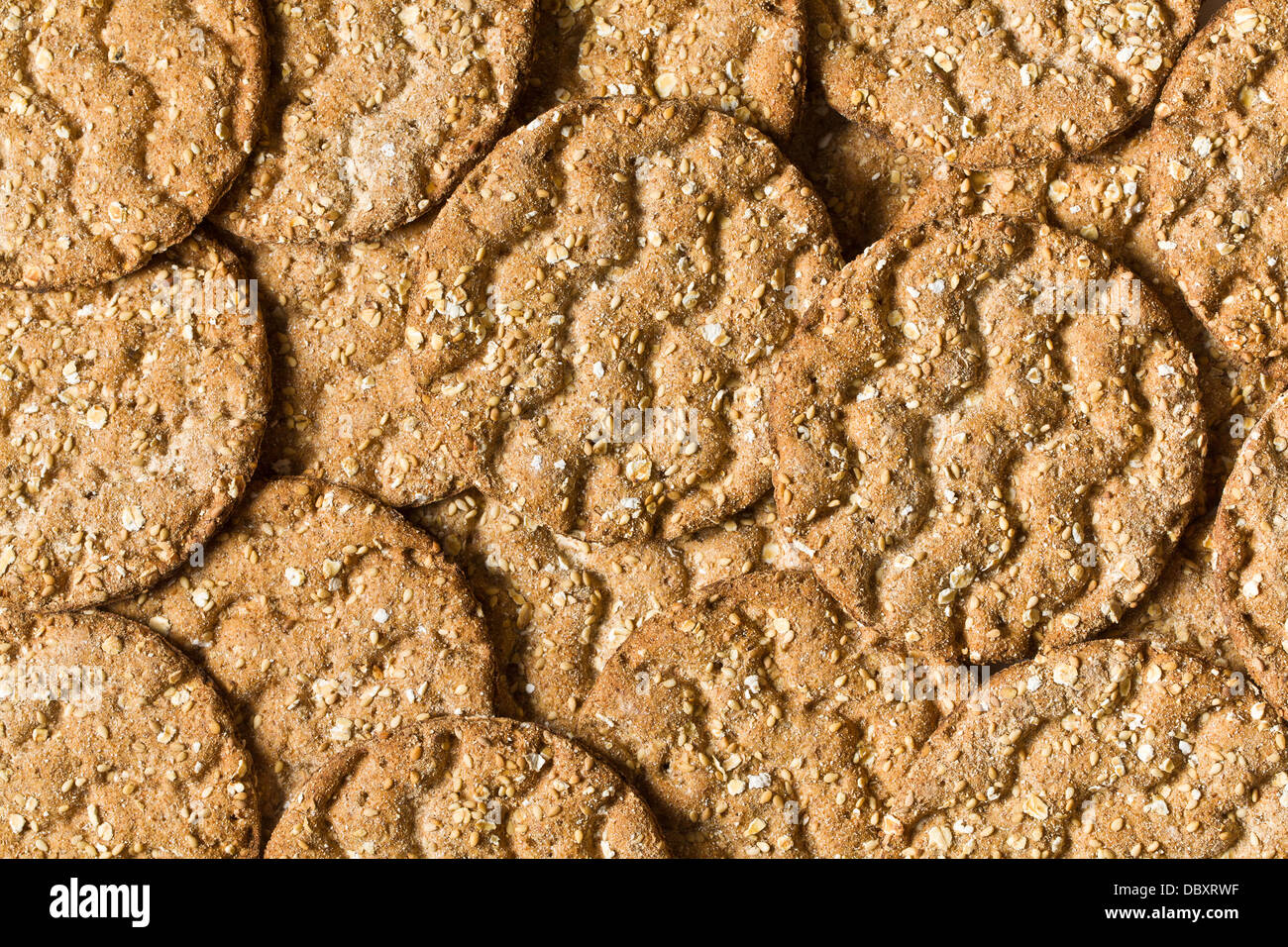 the background of a crispbread - Stock Image