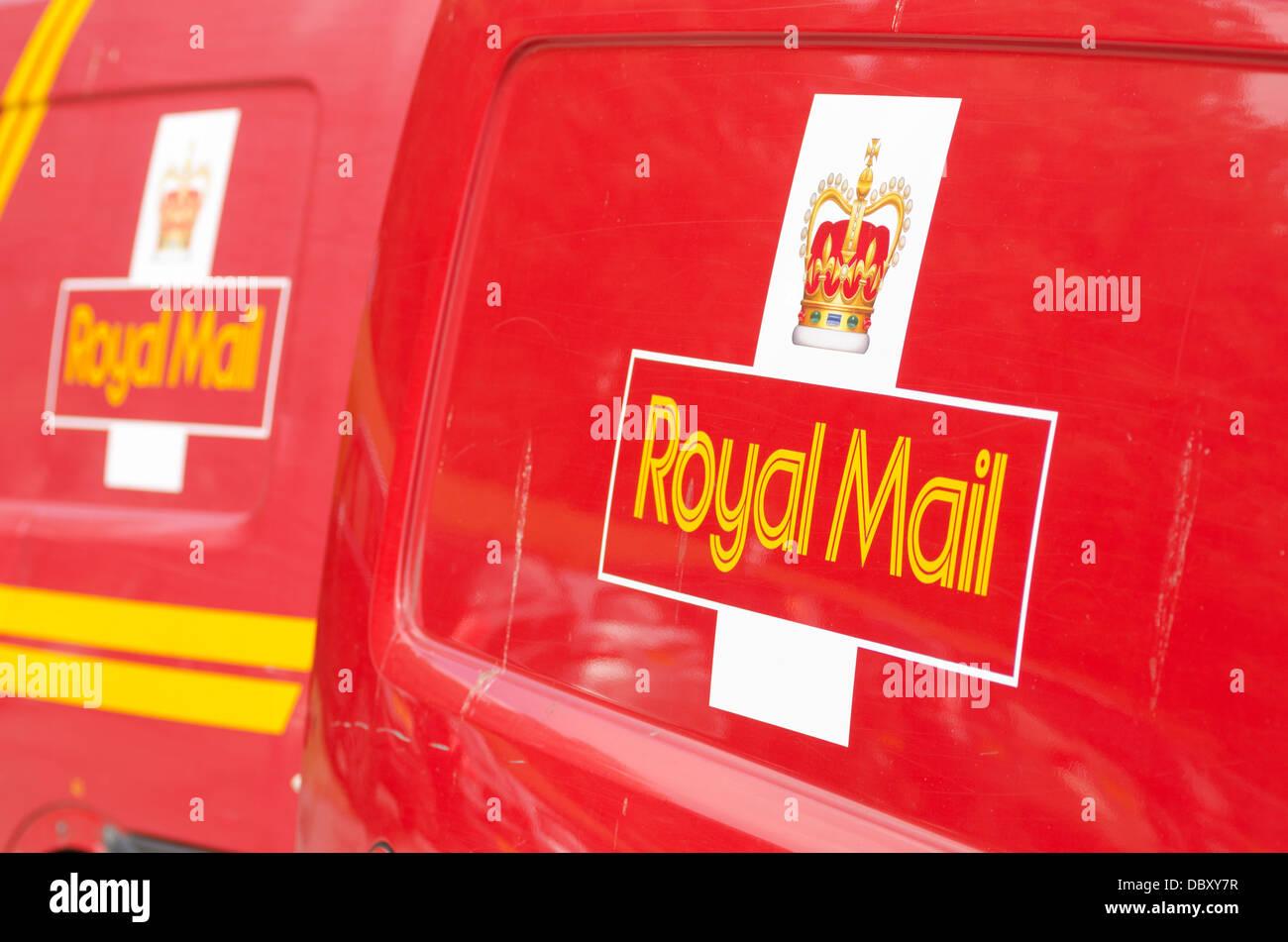 royal mail vans and logo - Stock Image