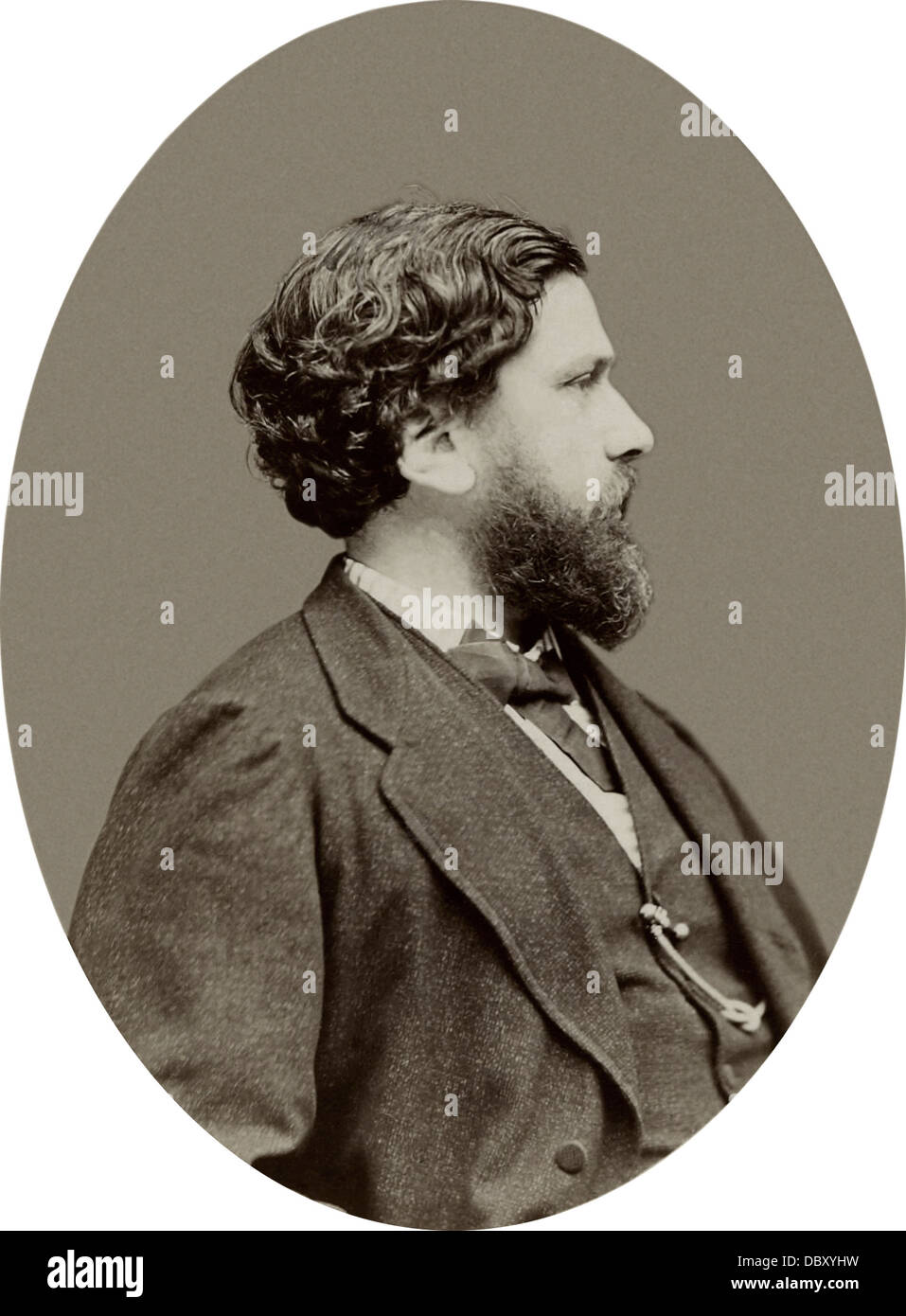 Philippe Burty (1830 - 1890), french art critics - Stock Image