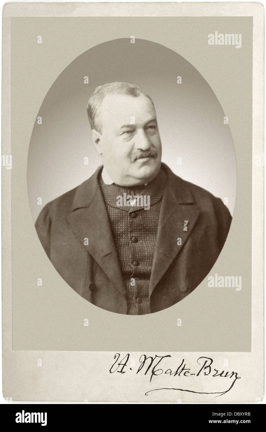 Victor Adolphe Malte-Brun (1816 - 1889), french geographer and cartographer. - Stock Image