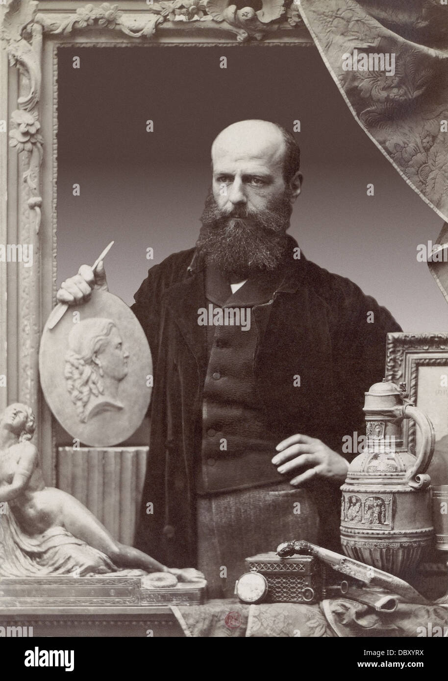 Mathieu-Meusnier (1824 - 1896), French sculptor and collector - Stock Image