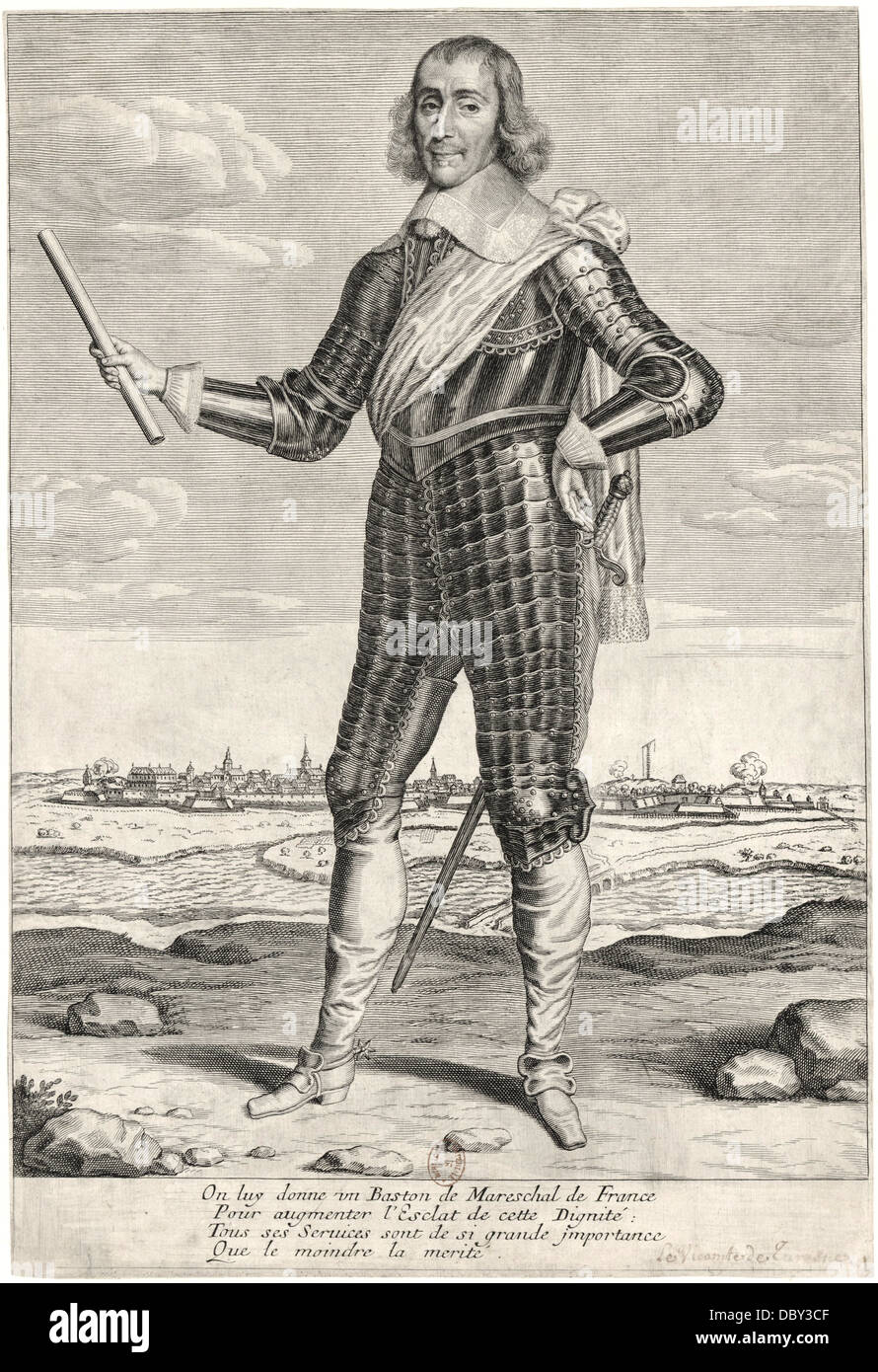 Abraham de Fabert (1599 - 1662), marshal of France. - Stock Image