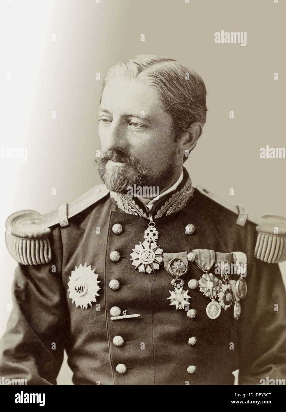 Armand Jules Marie de Cavelier de Cuverville (1834 - 1912), French admiral and politician. Stock Photo