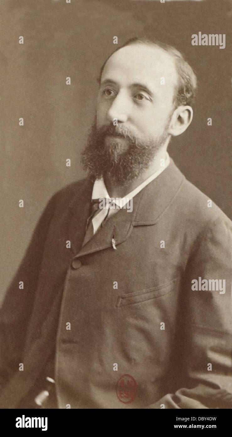 Jules Claretie (1840 - 1913), french playwright, novellist, journalist, academician, director of the Théâtre - Stock Image