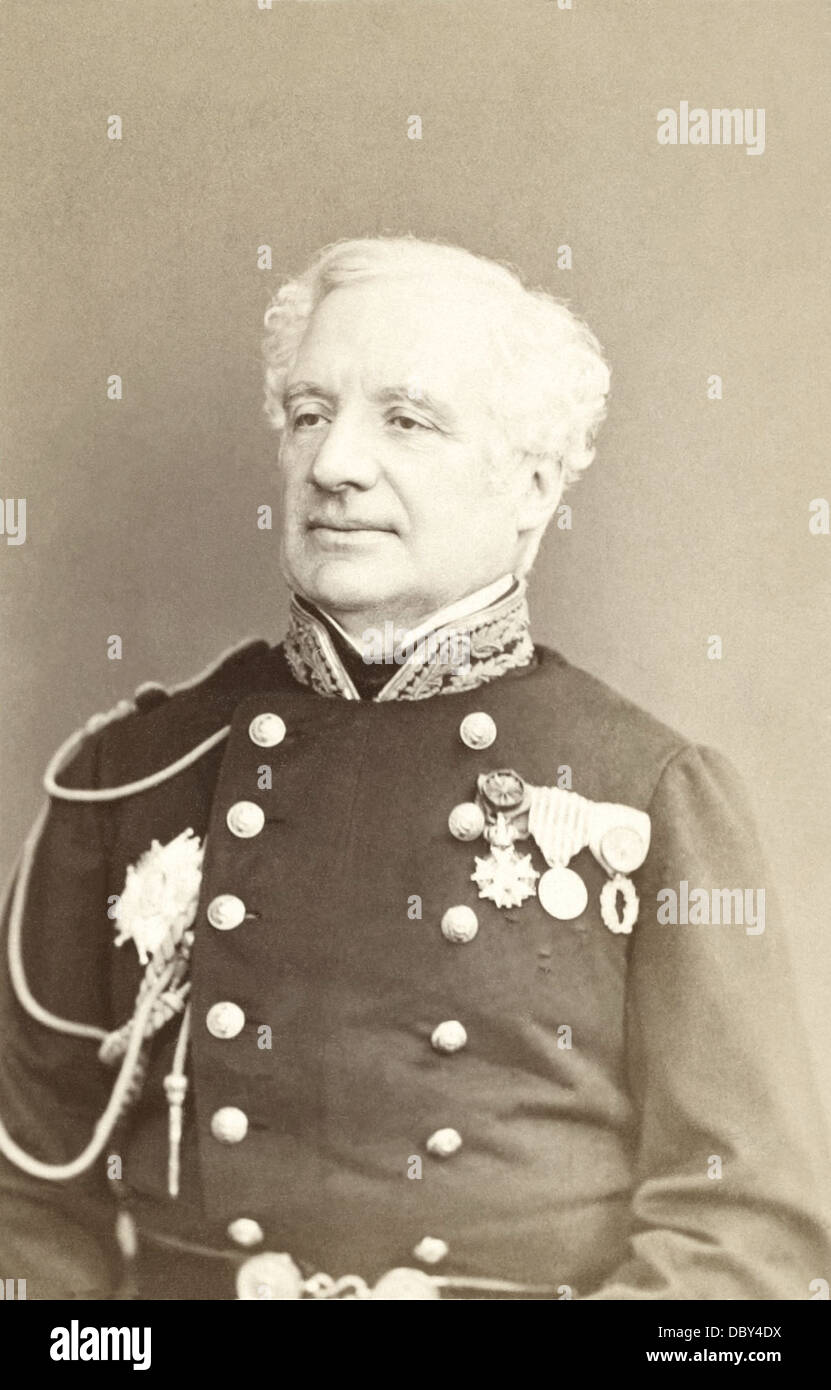 Félix Hippolyte Larrey (1808 - 1895), military doctor, and member of Parliament. Son of Dominique Larrey. - Stock Image