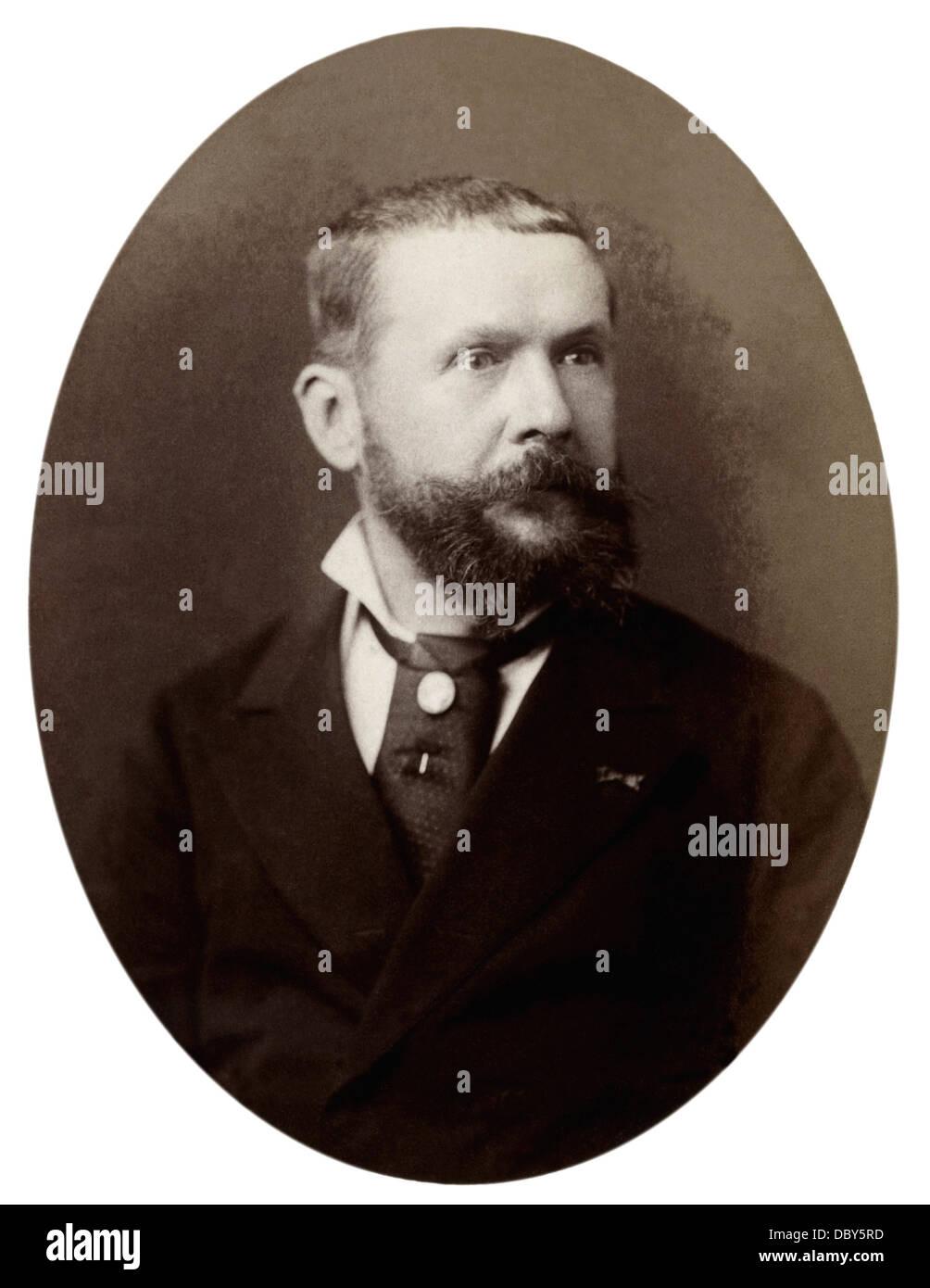 Gaston Tissandier (1843 - 1899), french scientist and balloonist. - Stock Image