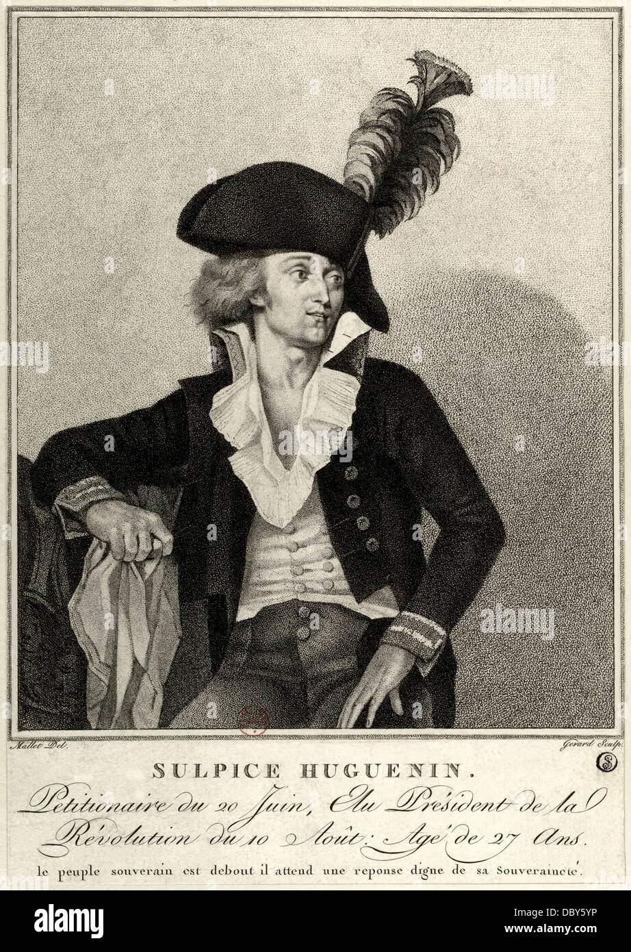 Sulpice Huguenin (1750 - 1803), French revolutionary. - Stock Image
