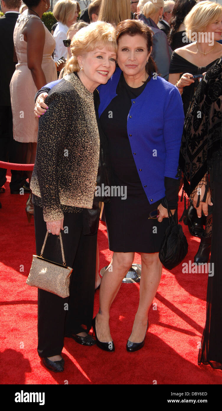 Carrie Fisher, Debbie Reynolds  2011 Primetime Creative Arts Emmy Awards Held at The Nokia Theatre L.A. Live Los - Stock Image