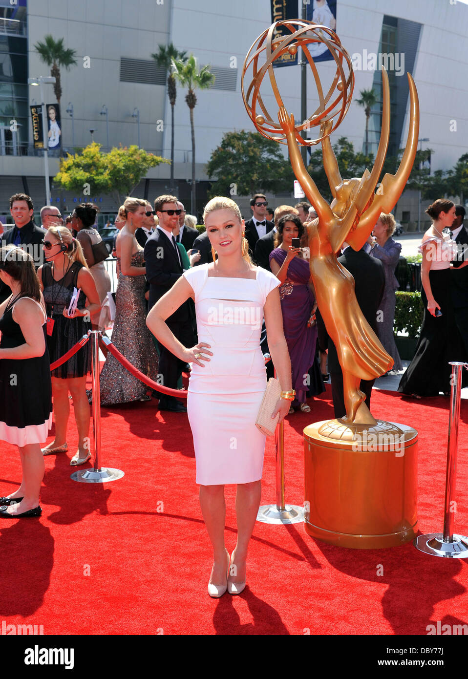 Julia Stiles  2011 Primetime Creative Arts Emmy Awards - arrivals Held at The Nokia Theatre L.A. Live Los Angeles, - Stock Image