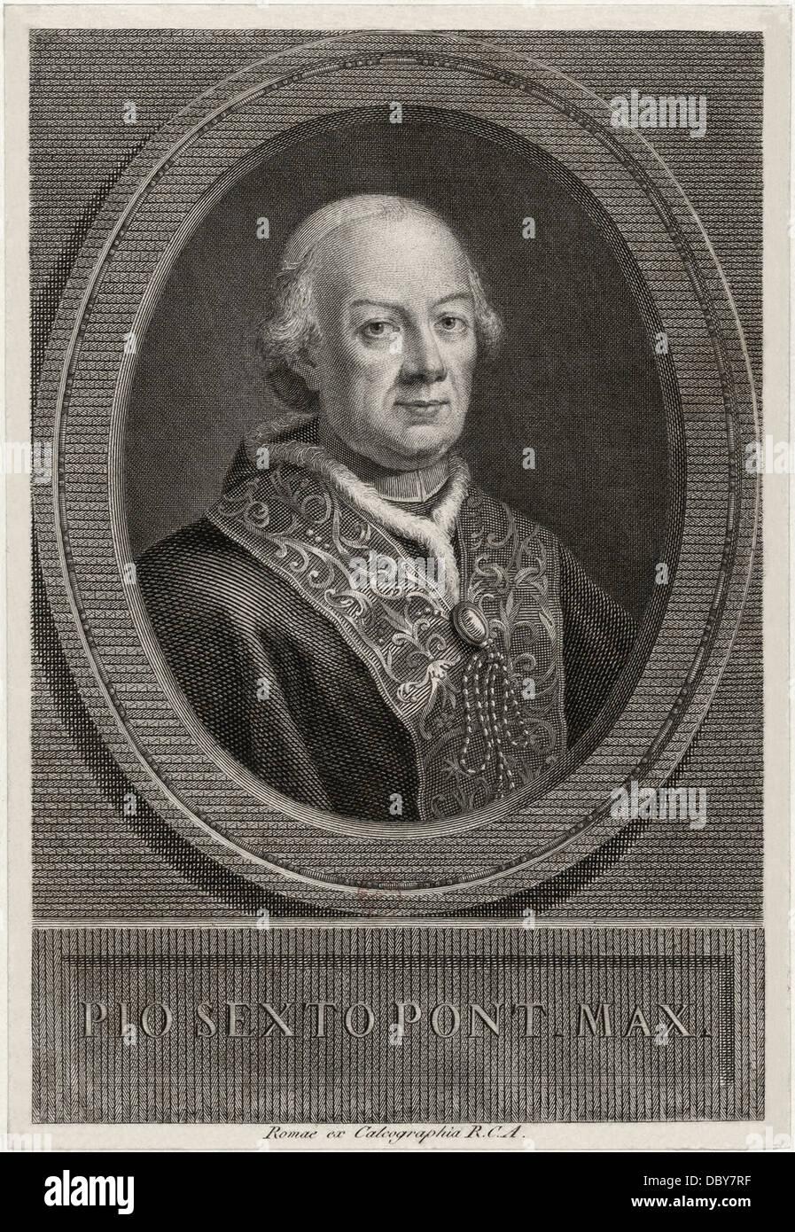Pius VI (1717 - 1799), 250th pope of the Roman Catholic Church. - Stock Image