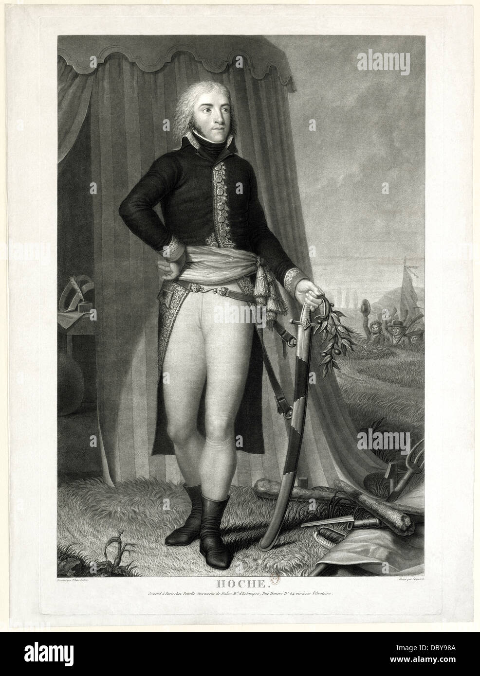 Lazare Hoche (1768 - 1797), french general. - Stock Image
