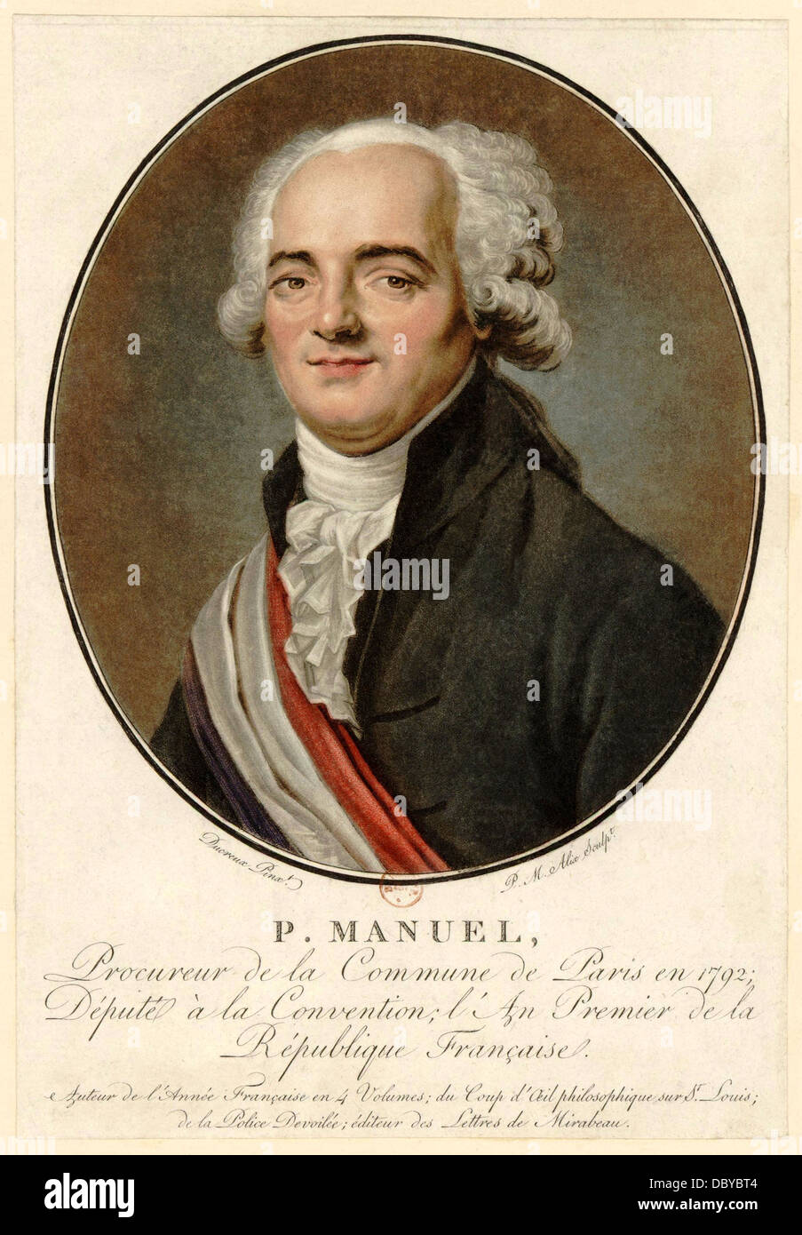 Pierre Louis Manuel (1751 - 1793), french revolutionary. - Stock Image