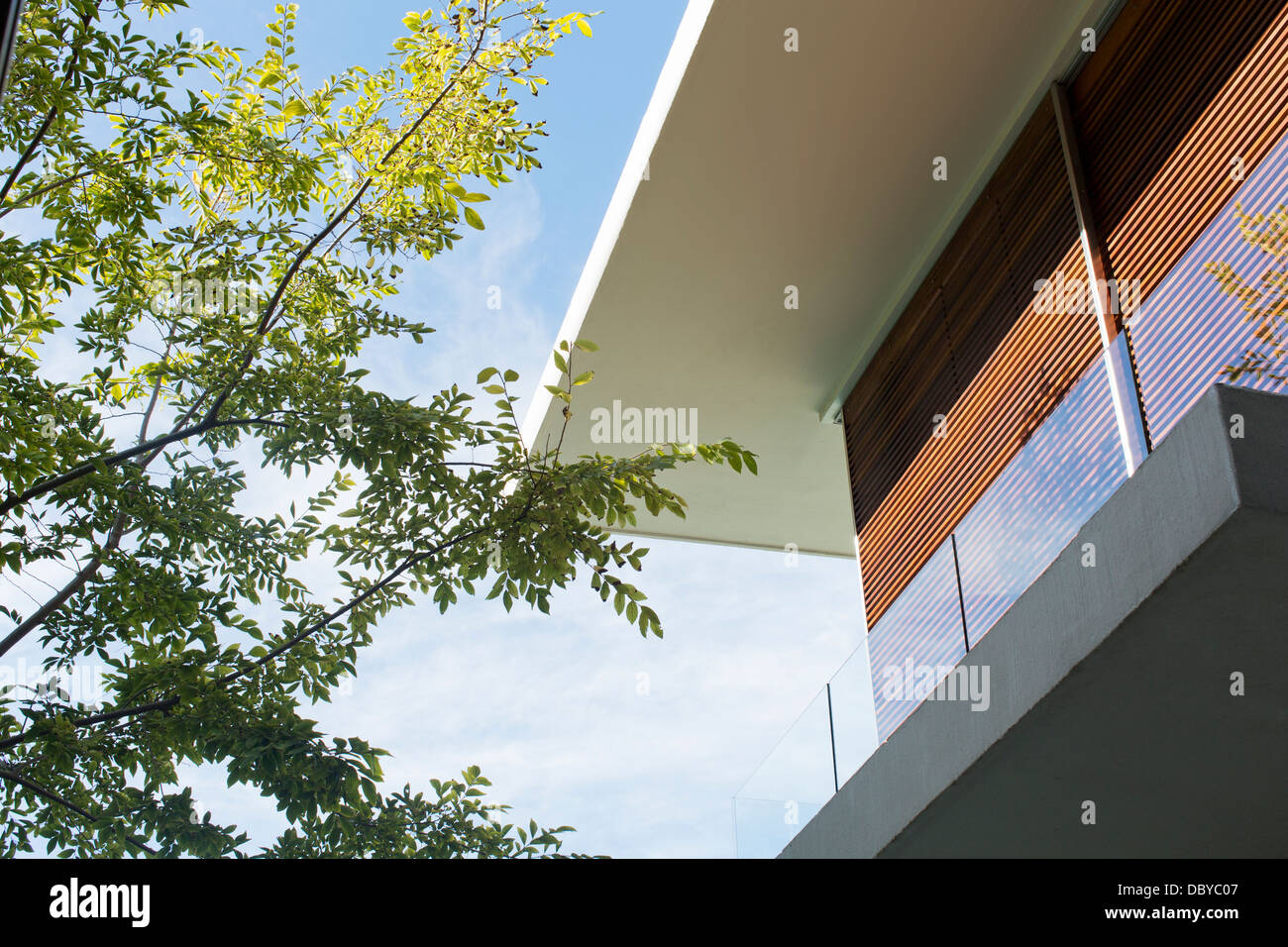 Roofline of modern house - Stock Image
