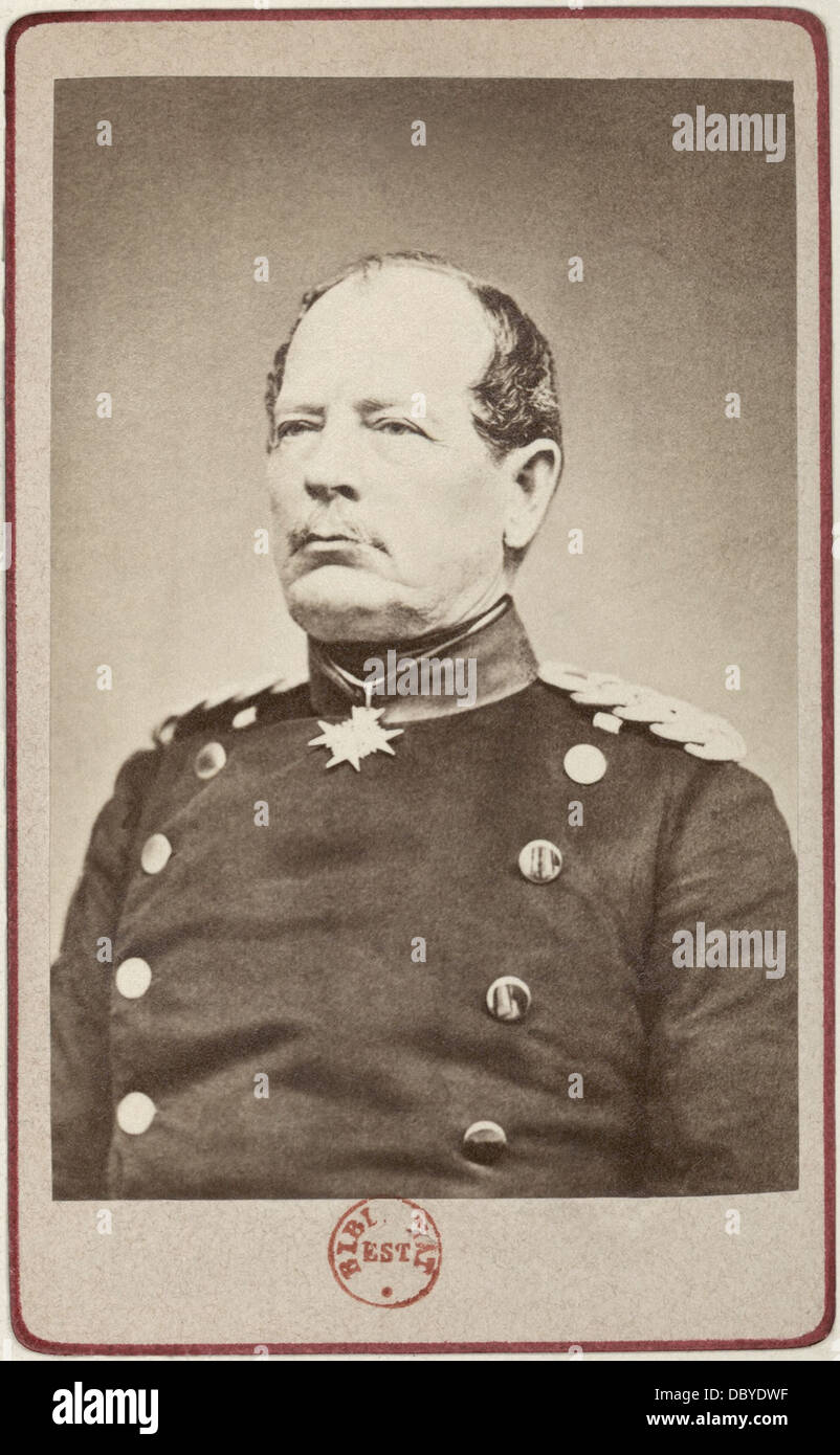 August von Werder (1808 - 1888), prussian, then german, general. - Stock Image